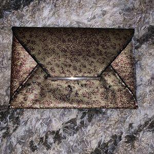 BCBG leopard envelop clutch